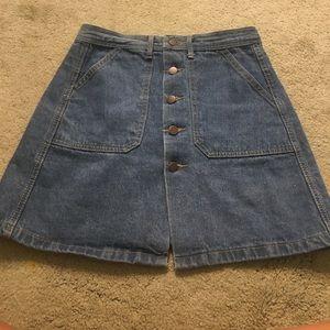 Dresses & Skirts - Medium button down denim skirt